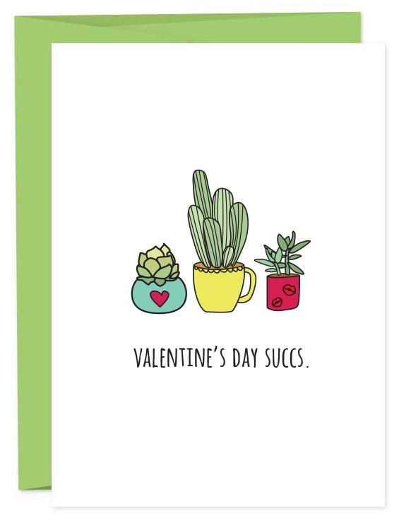 Valentine's Day Succs | Funny Succulent Valentine's Day Card | Galentine's Day