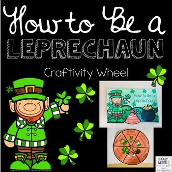 Transform your students into little leprechauns! This craftivity wheel is a fun way to get students into the St. Patrick's Day spirit and thinking about March 17 for a week ahead of time!