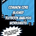 Introductory Pricing! Make any Social Science or Science textbook Common Core! SUPPORTS Common Core ELA Literacy Reading  Informational Text 1,2,4,...