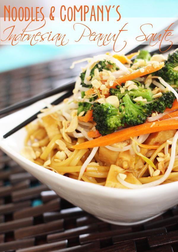 Noodles & Co. Indonesian Peanut Saute -- from FavFamilyRecipes.com
