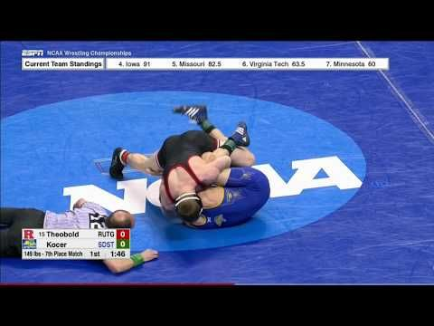 2017 NCAA Wrestling Championships 149lbs: Ken Theobold (Rutgers) vs Alex Kocer (South Dakota State)