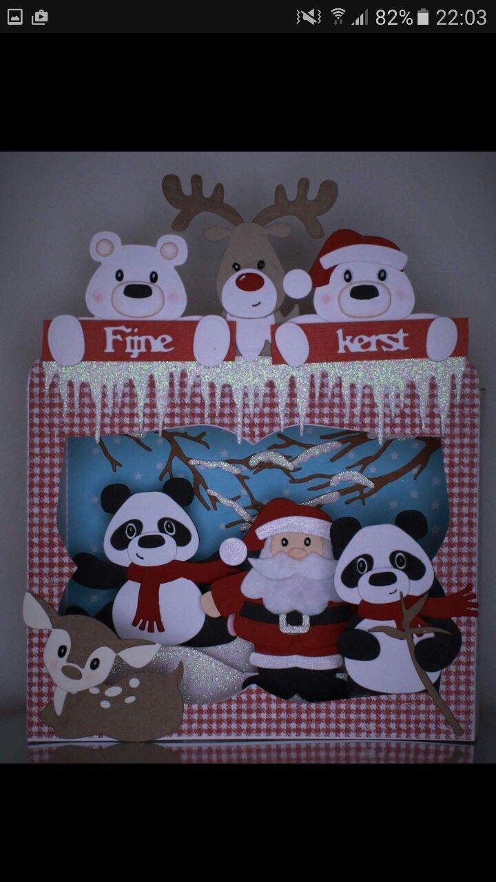 Een hele leuke Kerstkaart, die zou ik ook graag willen maken voor mijn Achterkleinkinderen. De Groeten Maria Schmelzeisen.