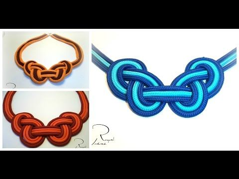 Como hacer un collar de trapillo con un nudo celta de dos colores