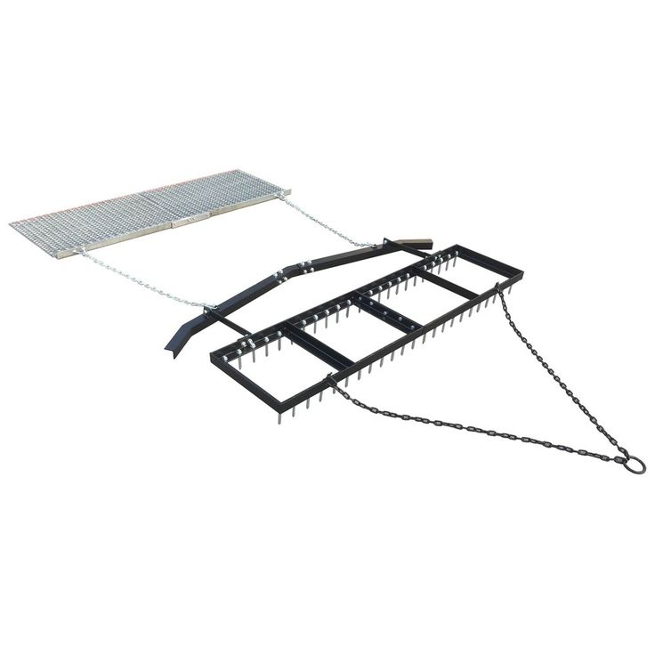 Yard Tuff 6 Spike Drag With Surface Leveling Bar And Drag Mat For