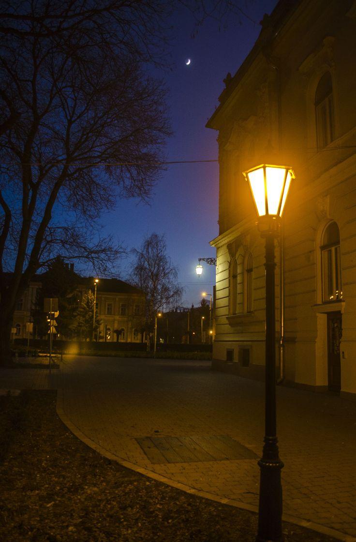 A városháza mellett