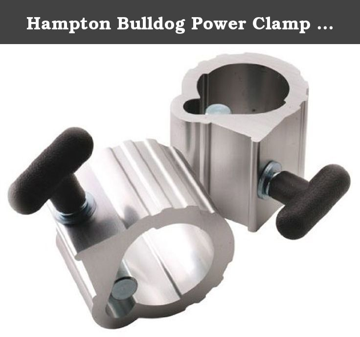 Hampton Bulldog Power Clamp Collars - 2 Inch (Pair). Hampton Fitness BDC Bulldog Power Clamp Collars - The Bull Dog Power Clamp is made from lightweight aluminum extrusion, offering unmatched strength and durability. No more pinched fingers or broken parts! The impact resistant T-handle securely engages an aluminum bar-cam, for maximum clamping force. This is a piece that will complement the looks and quality of your equipment.