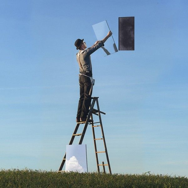 magic mirror in teh sky man at work Surreal & Conceptual Photography by Logan Zillmer