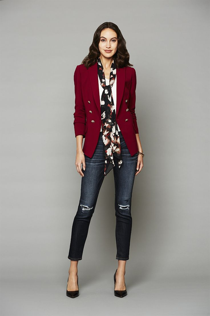 Content By White House Black Market - 10 New Outfit Ideas That Will Make You Glad It's Fall - The Red Trophy Jacket  from InStyle.com