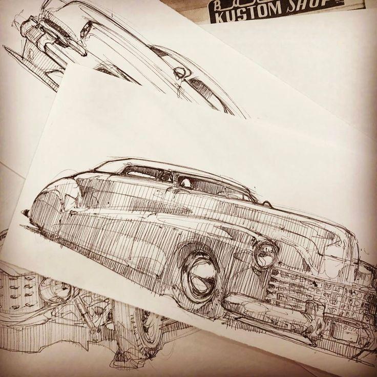 piscitellidesign Loose toon-ish style sketchin some early Barris cars for no reason in particular. #barris #barriscustoms #georgebarris #sambarris #1941buick #hirohatamerc #hopup #hopuplive #piscitellidesign #roddersjournal #sketcheverydamnday #carsketch #kustomrama