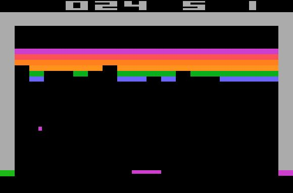 breakout...one of my FAVORITE atari games