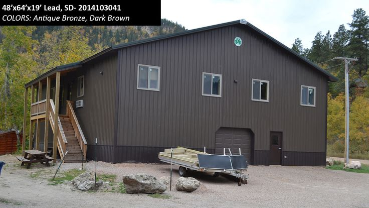 48' x 64' x 19' Cleary Residential Building in Lead, SD | Colors: Antique Bronze, Dark Brown