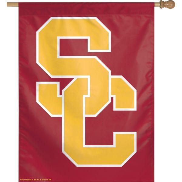 Usc Trojans Banner Flag In 2019 Usc Trojans House Flags Home Logo