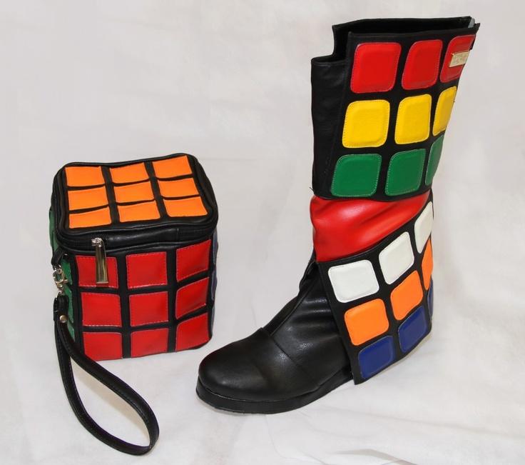 Rubiku0027s Cube Bag And Boots