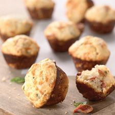 Mini biscuits studded with pepperoni and cheese.