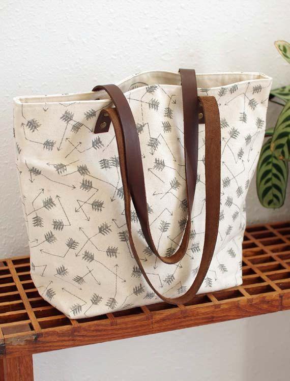 screen printed tote bag - Broken Arrows. $64.00, via Etsy.