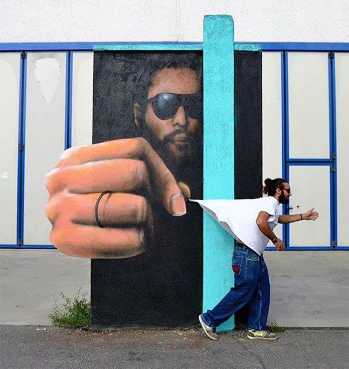 Интерактивное уличное искусство в Италии / Каифа Козимо 5