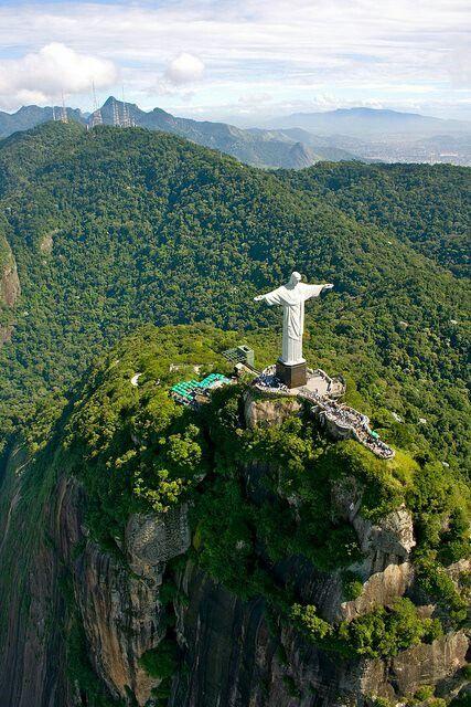 Christ the redentor on top Corcovado, Rio, Brazil