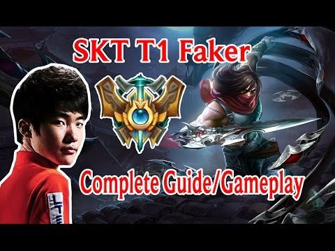 SKT T1 Faker Talon Complete Guide | Runes | Masteries | Gameplay | style...