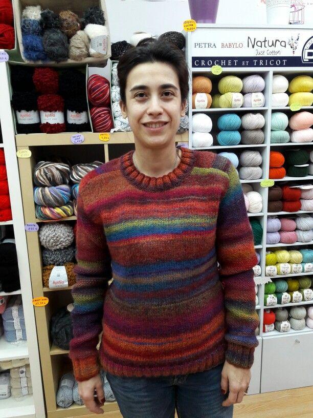 Precioso jersey tejido por Cristina