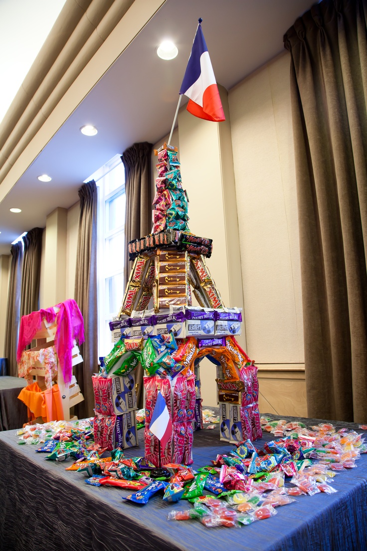 Eiffel Tower Candy Bar Cake Design Pinterest Towers