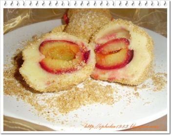 GALUSTE CU PRUNE/ CU CAISE un dulce care nu are nevoie de prea multe ingrediente...yami! Romaneasca, Rețete pentru deserturi de vară, Reţete cu pesmet, Pentru familie