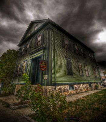 The Lizzie Borden House in Fall River, Massachusetts, which is now a bed and breakfast, is claimed to be the most haunted house in the USA. It is the site of a double murder, one of the most famous in US history