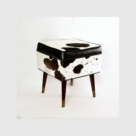 Modern Cowhide Furniture  Leather  Upcycled  by CityBeepster