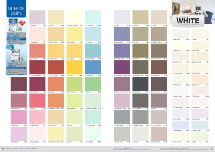 10 Excellent Wall Paint Colors Catalog Gallery Paint Color Chart Wall Paint Colors Nippon Paint