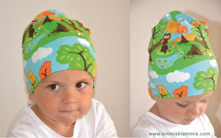 Cute beanie with a little forest!!