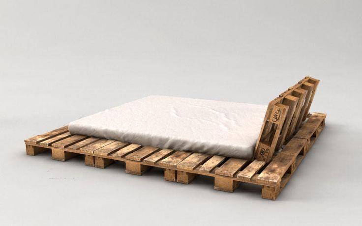 ber ideen zu palettenbett auf pinterest betten. Black Bedroom Furniture Sets. Home Design Ideas