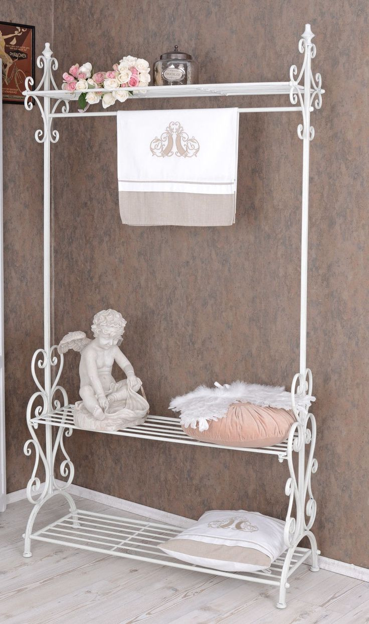 standgarderobe weiss garderobe shabby chic flurgarderobe. Black Bedroom Furniture Sets. Home Design Ideas