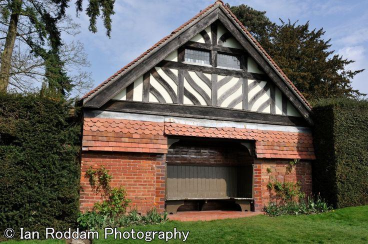 Garden seat, Wightwick Manor, near Wolverhampton. Garden