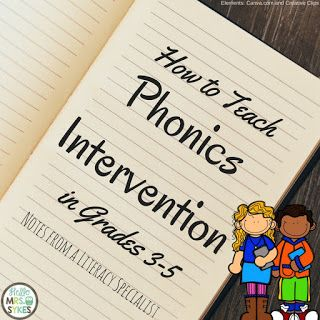 How I Teach: Phonics intervention in upper elementary - blog post from Hello Mrs Sykes