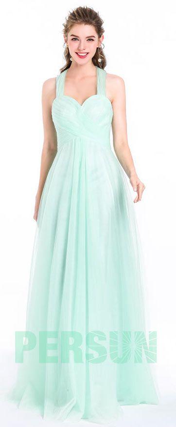 Robe de soirée princesse verte pour fête d'anniversaire