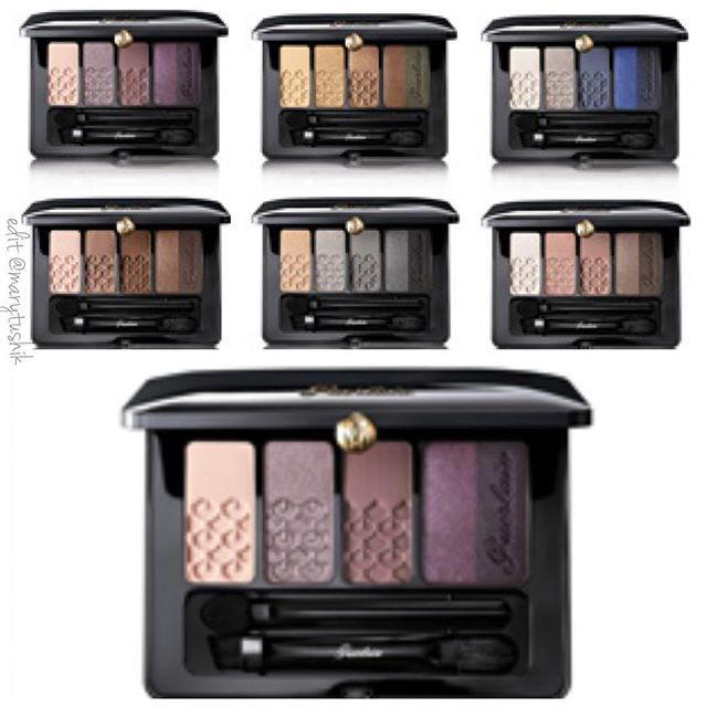 Guerlain Fall 2016 - new 6 eyeshadow palettes
