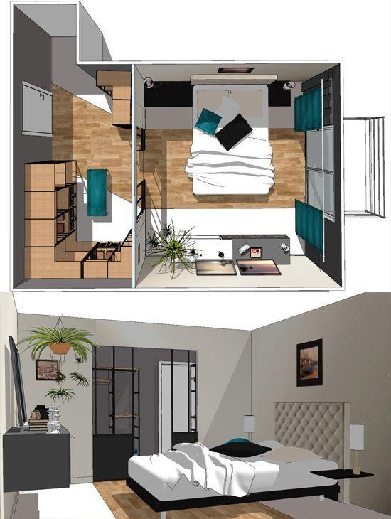 Plan chambre  où mettre le lit dans la chambre ? Bedrooms, Master - Quelle Couleur Mettre Dans Une Chambre