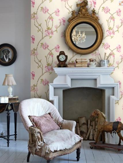 Orchard Blossom wallpaper (Sylvana Range by Nina Campbell)