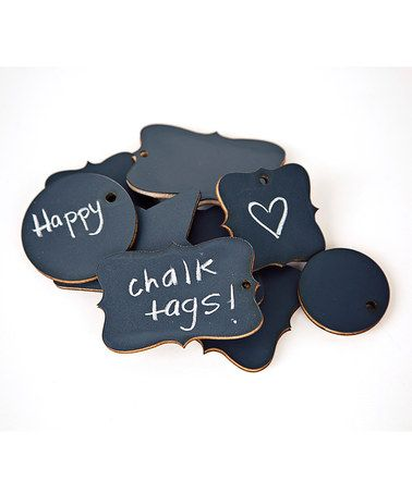 Chalk Tag Set by ADORNit on #zulily today!