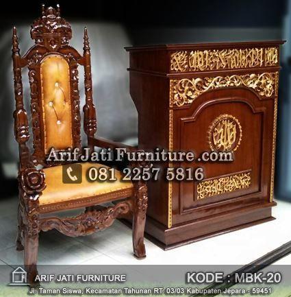 jual podium masjid dan kursi terbaru