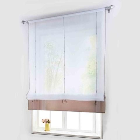 [EBay] Height-Adjustable Roman Curtain Ready Made Curtains For Kitchen Window 100% Polyester 1 Pcs With Plastic Tubes