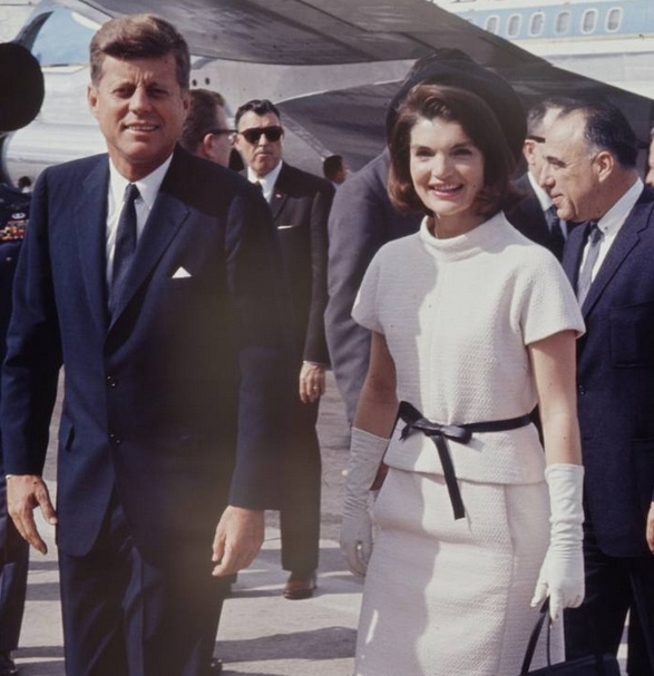 The Kennedy's leave for their trip to Texas on November 21, 1963.