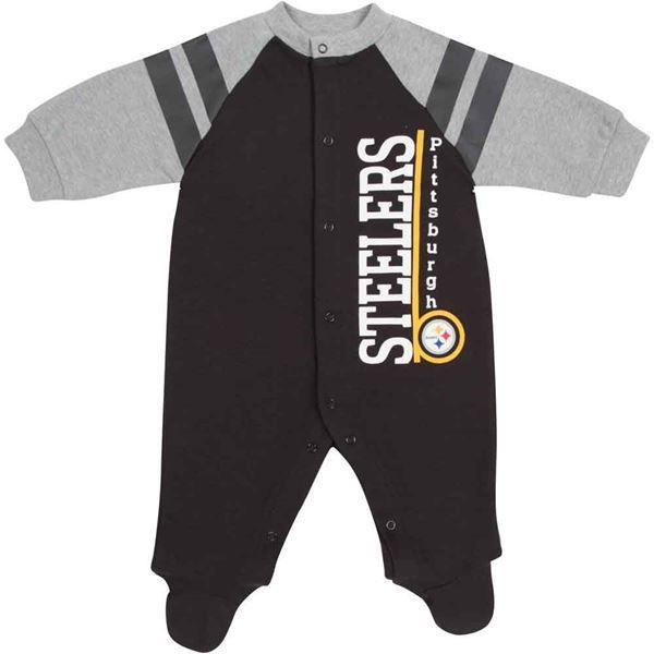 picture of pittsburgh steelers infant longsleeve sleep n play creeper - Pittsburgh Steelers Merchandise
