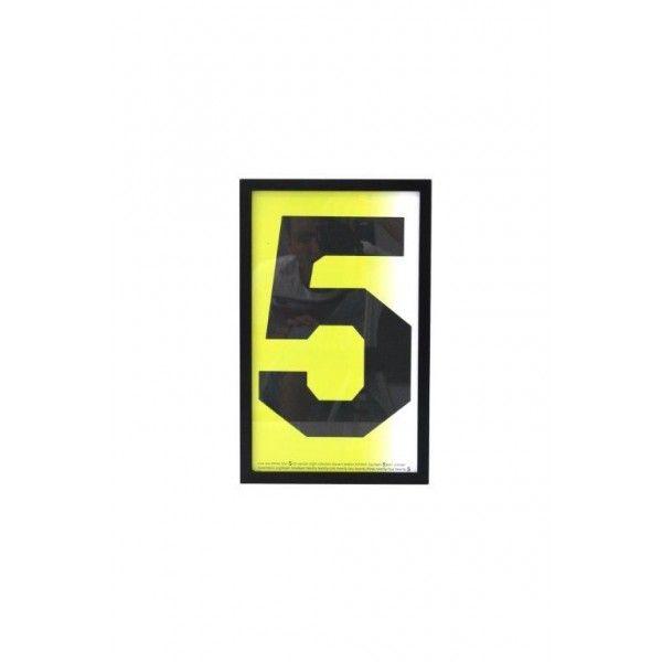 Plakat w czarnej drewnianej ramie 'Five' HK Living