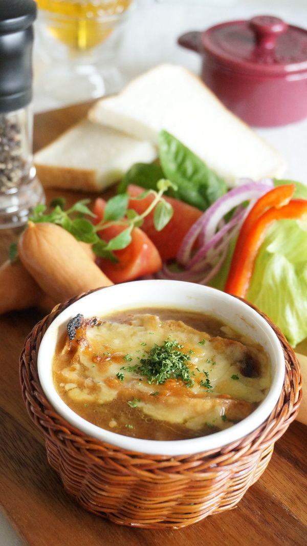 パルミジャーノ香る、オニオングラタンスープ by 本村 美子   レシピ ...
