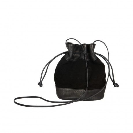 CANDYBAG BLACK SUEDE POUCH