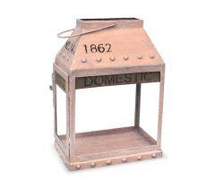Подсвечник - фонарь Vintage розовый Декор для дома