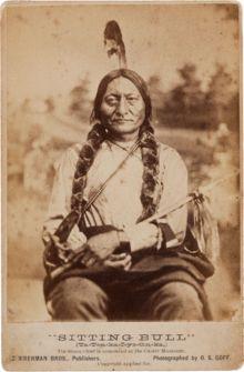 "Sitting Bull (Lakota: Tȟatȟáŋka Íyotake in Standard Lakota Orthography,[2] also nicknamed Slon-he or ""Slow""; c. 1831– December 15, 1890) wa..."