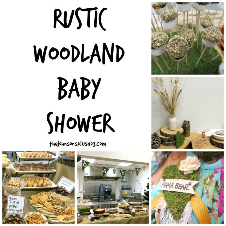 This rustic woodland baby shower is filled with tons of great gender neutral shower ideas, DIY projects and forest themed foods!