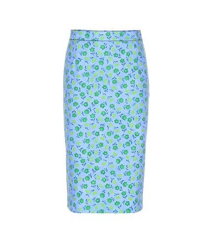 Prada Cotton-blend Twill Skirt For Spring-Summer 2017