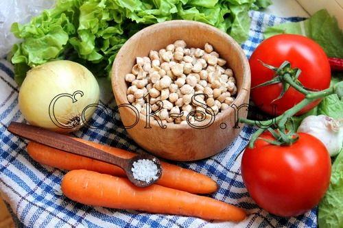 нут с овощами - ингредиенты
